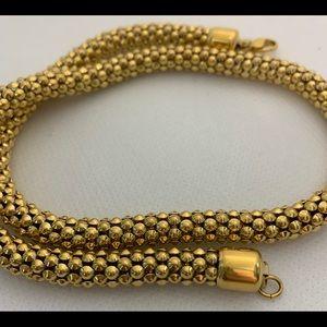"Vintage Gold Necklace by Monet 17.5"" Faux Costume"